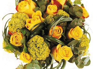 Ramo de rosas amarilla. www.floristerialosangeles.com
