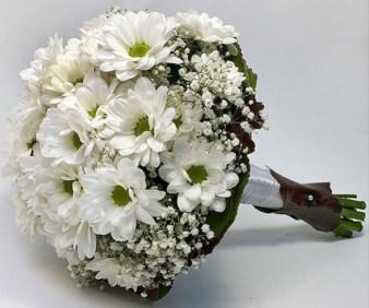 Ramo de Novia de margaritas. www.floristerialosangeles.com