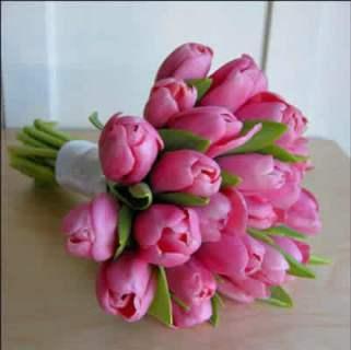 Ramo de novia tulipanes.www.floristerialosangeles.com
